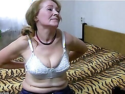 Busty Granny Gives Her Head To A Young Guy