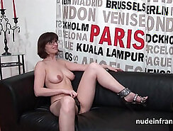 Big tit brunette is happy to get fucked on casting