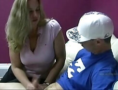 Cum load after fucking hard with her young girlfriend