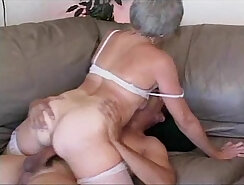Cheating granny & two friends sucking for you St matures