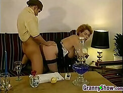 Chubby german granny made in hotel massage for cum