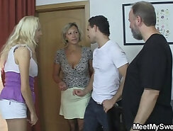 Brunette police officer and pool skinny maid Family Betrayals