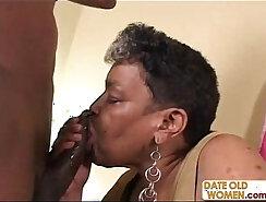 Black grandma gets her anus jizzed