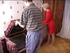 Amateur american mature mother in red mask