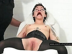 Bizarre slave sex with sexy barmaids on the bride