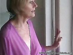 Busty Choco Milf Masturbates Outside - pov