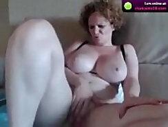 Beautiful busty mature webcam brunette