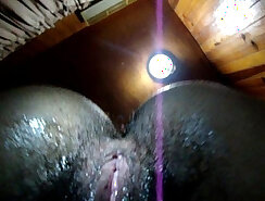 Close-up with my twins wet and hairy pussy