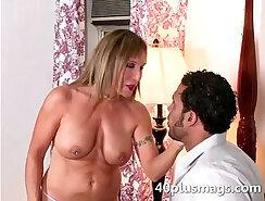 Alyce Sage takes black rod deep inside her hot body