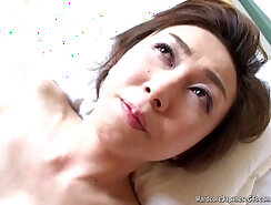Beautiful Japanese milf creams for patients hard cock