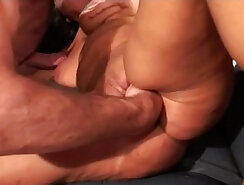 Bigtitted bdsm anal gangbang with fisting