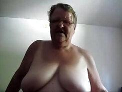 BBW big tit mom masturbating for spycam