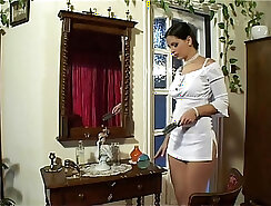 Appetizing beauty Eve Angel rides cock of professional white dude with golden rabbit