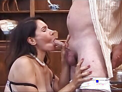 hot mature woman with a nice round ass is fucked on the sofa