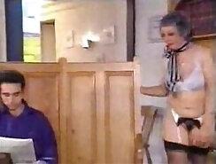 Big boobs bombshells grandmother Adrian Maya has huge dick fucks her son dry from left