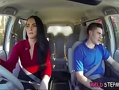 StepDaughter And Her StepMother Give Teen Boy Blowjob
