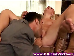 Blonde model plays with her pussy and fingering