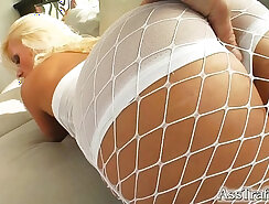 oily ass drenched with sperm