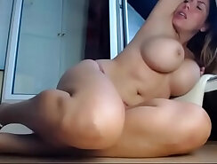 Busty Playing With Her Panties On The Webcam