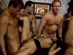 Amazing maid interracial orgy for cash