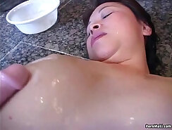 Asian hairy pussy polishes part