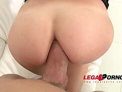 Simona filmed during her first anal