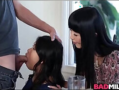 Asian sex-party babe toying pussy