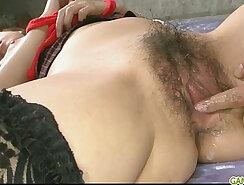 Athletic Latina Babe in Stockings Masturbates
