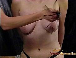 Blonde Slut with big tits on a Blade