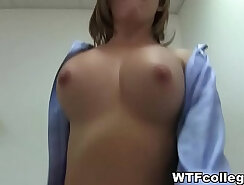 College chick wanks big cock the cockpartys hot pov