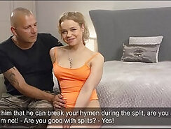 Cock biting - virgin wife getting fucked by my big
