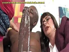 Cougar Mom Strip And Fuck Big Black Cock