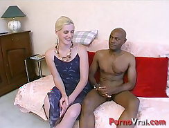Amateur french girl sucking together with sex toy