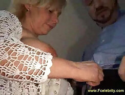 Big Breasted Milf Jacks Off On Couch