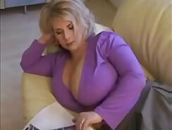 From big tits milf teasing on cam